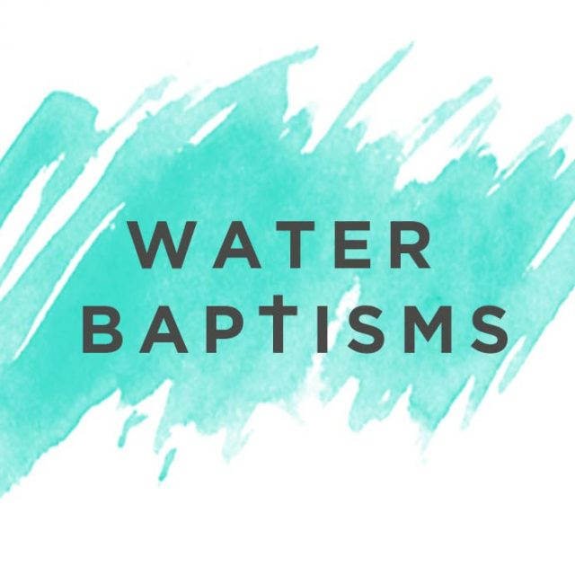 Water Baptisms Banner Graphic