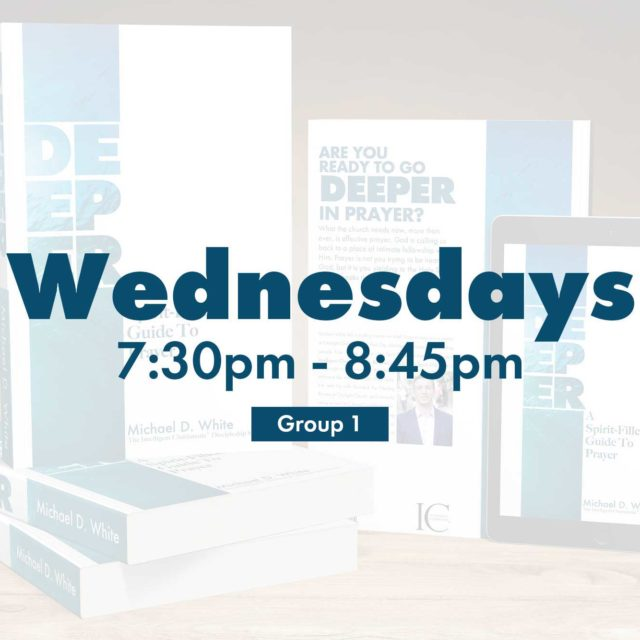 Group 1 • Wednesdays • 7:30pm - 8:45pm