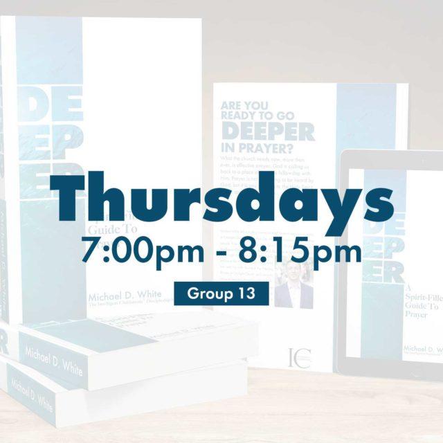 Group 13 • Thursdays • 7:00pm - 8:15pm