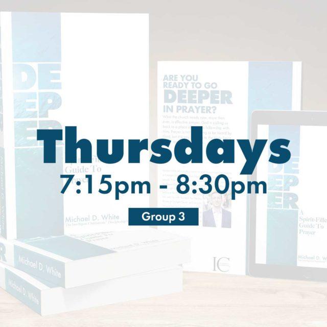 Group 3 • Thursdays • 7:15pm - 8:30pm